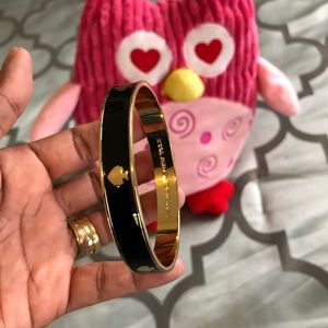 KATE SPADE Black and Gold Bangle